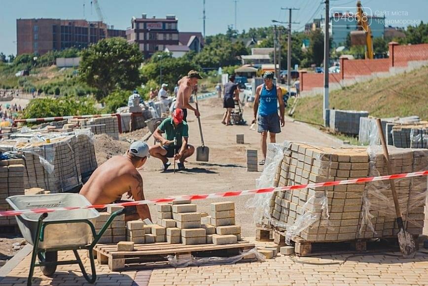 В Черноморске продолжаются работы по реконструкции улицы Пляжная (фото), фото-3