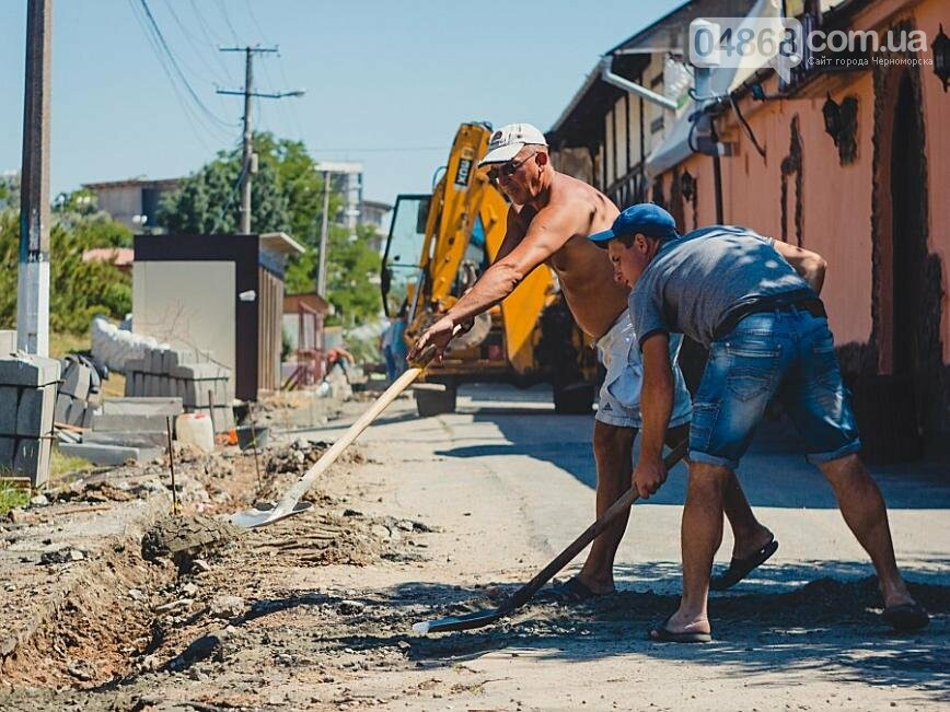 В Черноморске продолжаются работы по реконструкции улицы Пляжная (фото), фото-8