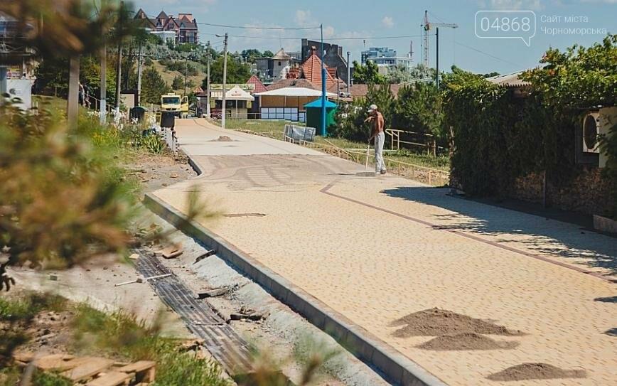 В Черноморске продолжаются работы по реконструкции улицы Пляжная (фото), фото-10