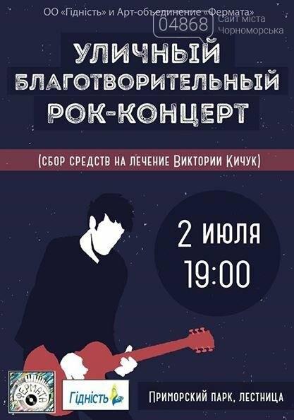 В Черноморске готовится уличный благотворительный концерт, фото-2