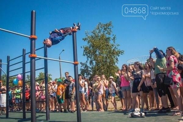 В Черноморске состоялось праздничное открытие площадки для занятий WorkOut (фото), фото-4