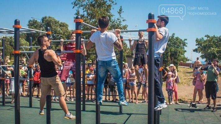 В Черноморске состоялось праздничное открытие площадки для занятий WorkOut (фото), фото-8
