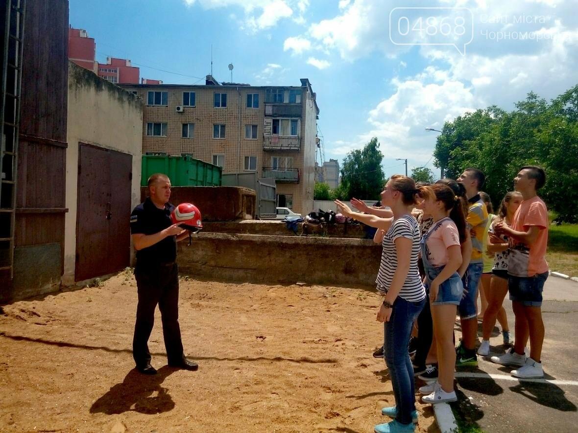 Лагерь лидеров побывал в гостях у Черноморских спасателей (фото), фото-7