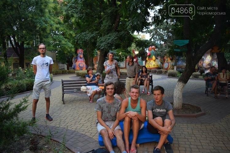 На два часа сквер у Дворца культуры Черноморска превратился в «Музыкальный дворик», фото-4