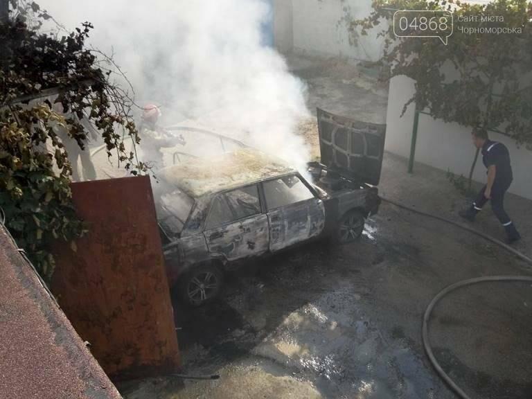 В Черноморске снова горят автомобили (фото, видео), фото-4