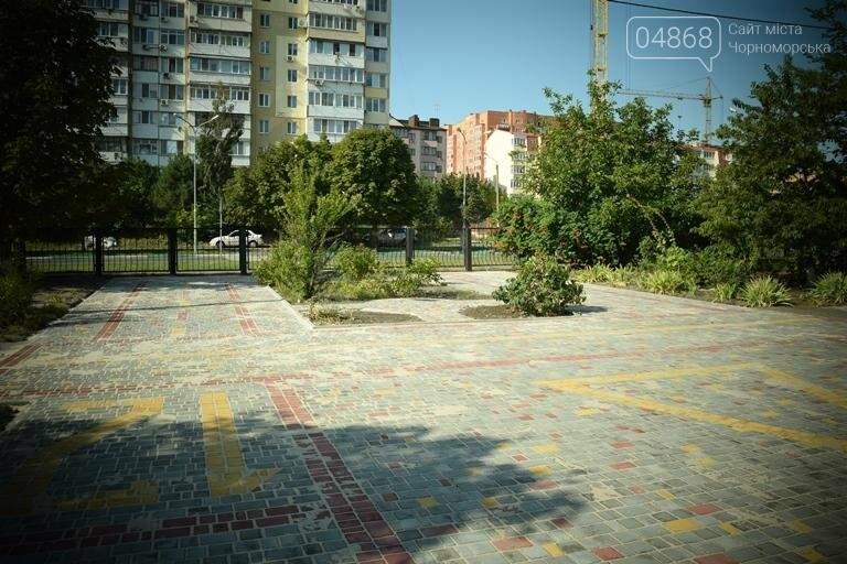 Территория 7 школы Черноморска преобразилась, фото-3