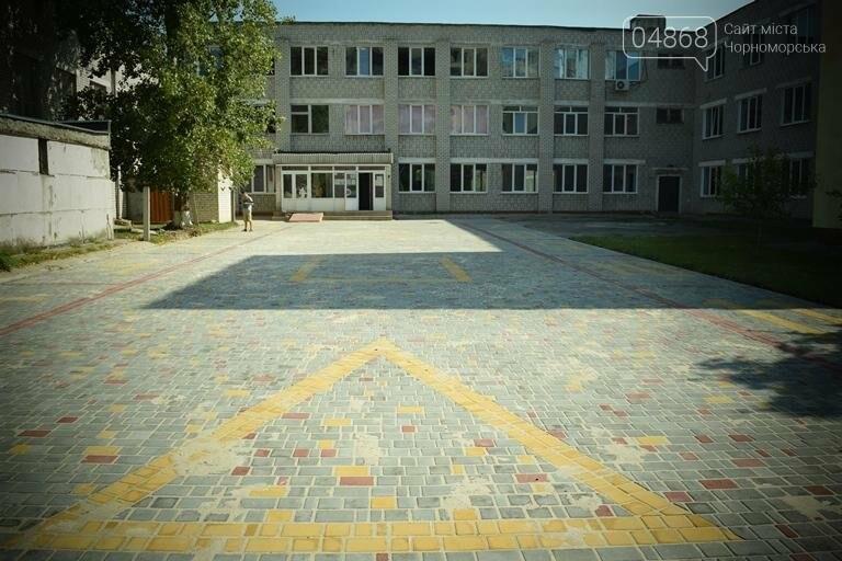 Территория 7 школы Черноморска преобразилась, фото-5