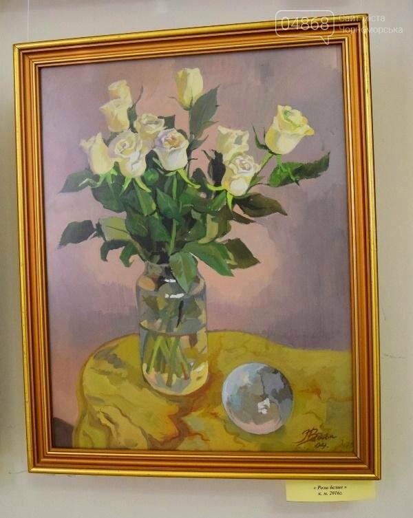 Ко Дню цветов в музее Черноморска расцвели цветы художницы Натальи Видовой, фото-9