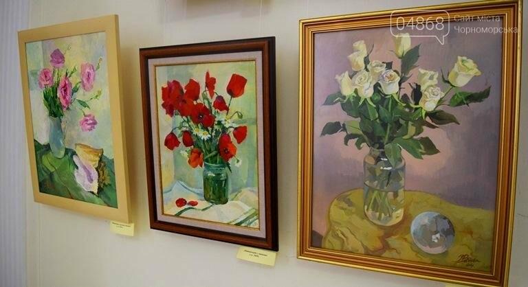 Ко Дню цветов в музее Черноморска расцвели цветы художницы Натальи Видовой, фото-6