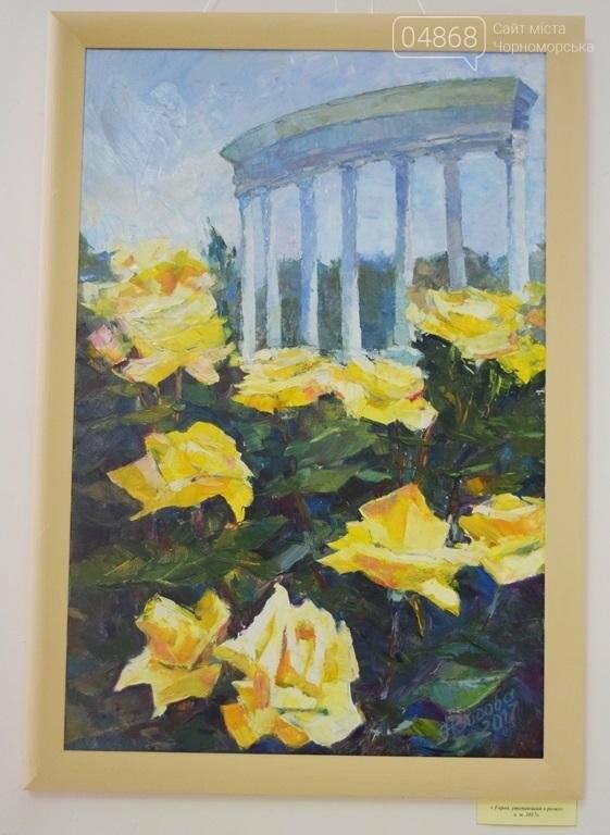 Ко Дню цветов в музее Черноморска расцвели цветы художницы Натальи Видовой, фото-13