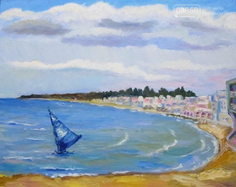Художники Черноморска представили 30 новых картин, посвящённых городу, фото-4