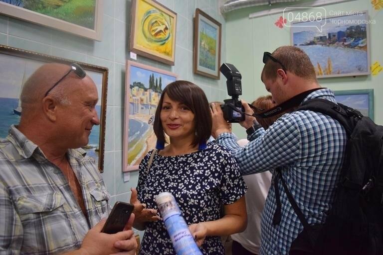 Художники Черноморска представили 30 новых картин, посвящённых городу, фото-5