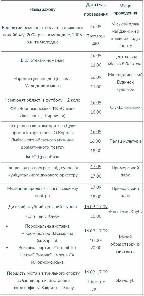 План культурных мероприятий на выходные дни 16-17 сентября, фото-1