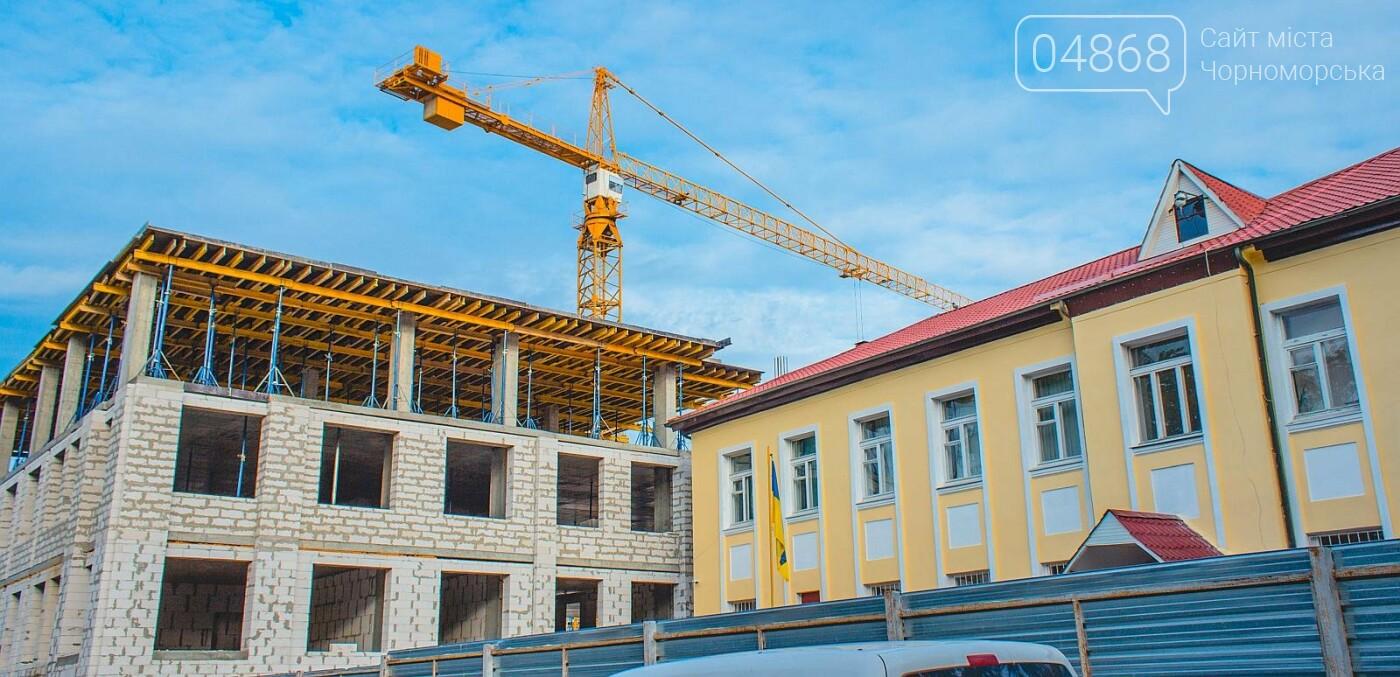 Каркас Черноморской гимназии планируется закончить к началу следующего года (видео), фото-7