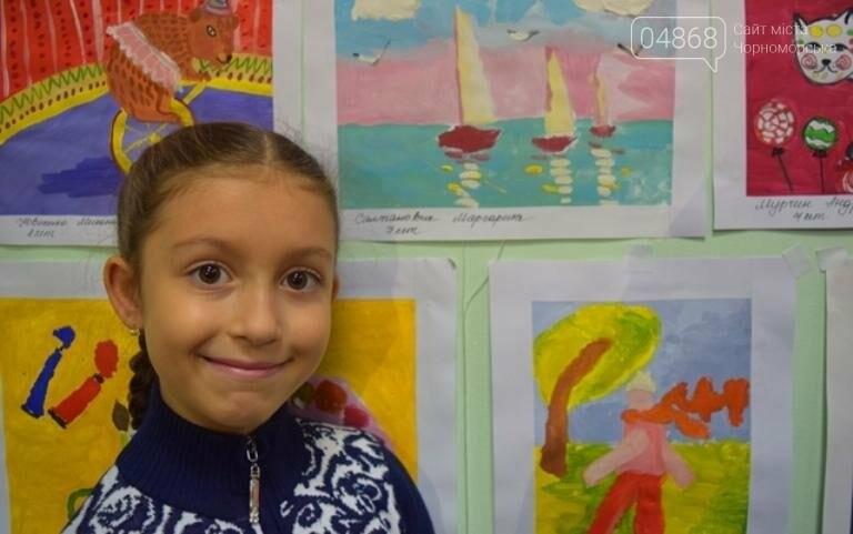 100 детских рисунков: в Черноморске открылась выставка «Краски жизни» (фото), фото-5