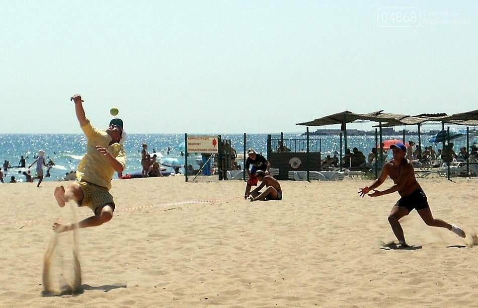 Пляжный бейсбол в Черноморске, фото-1