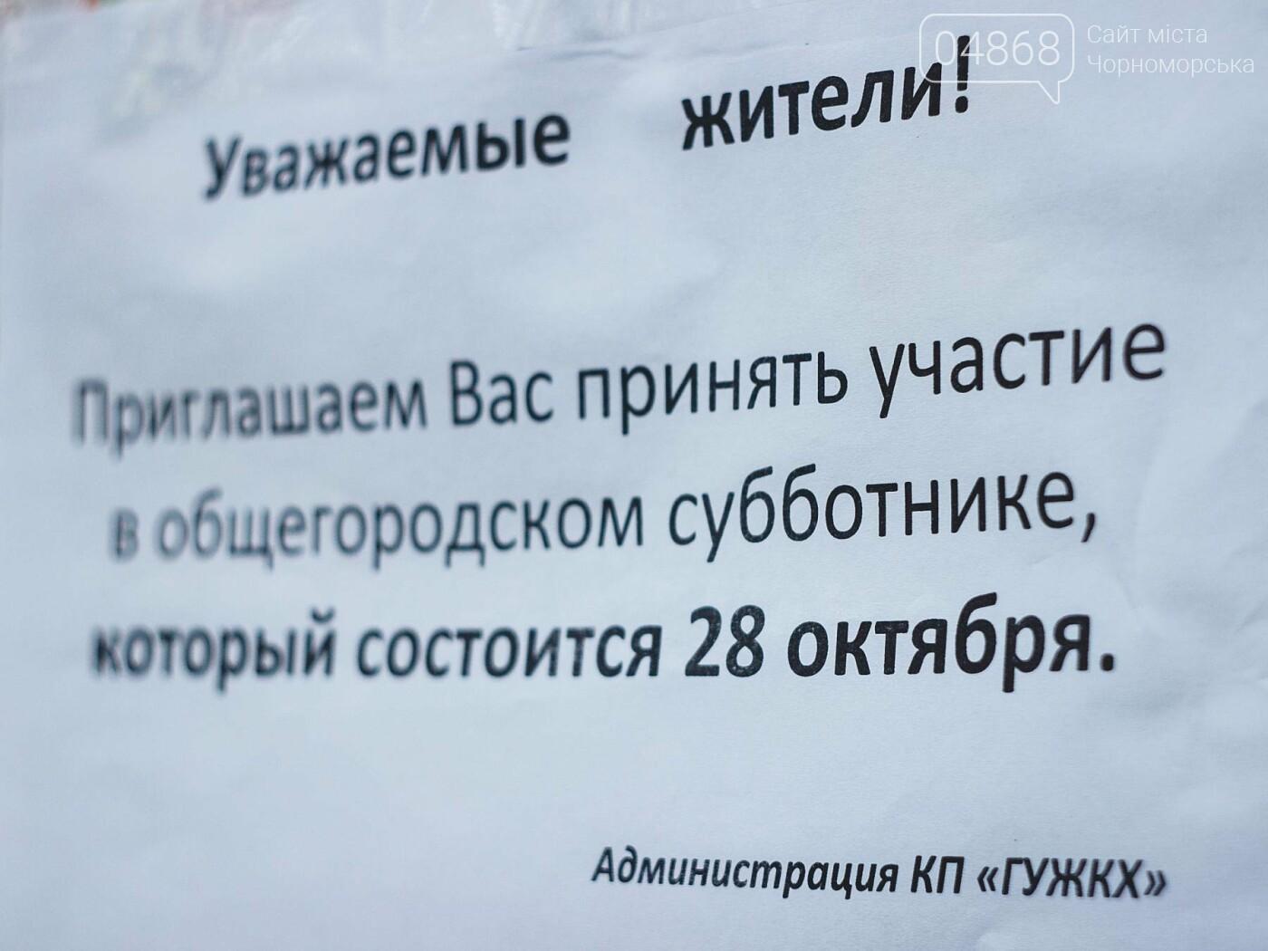 28 октября в Черноморске пройдёт общегородской субботник, фото-3