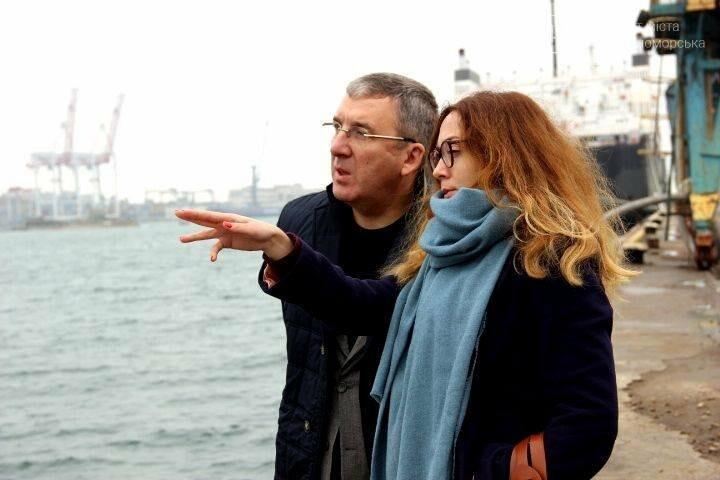Журналисты Киевского бюро «Радио Свобода» посетили Черноморский порт, фото-1