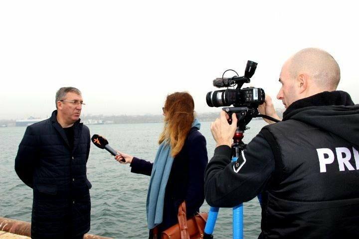 Журналисты Киевского бюро «Радио Свобода» посетили Черноморский порт, фото-3