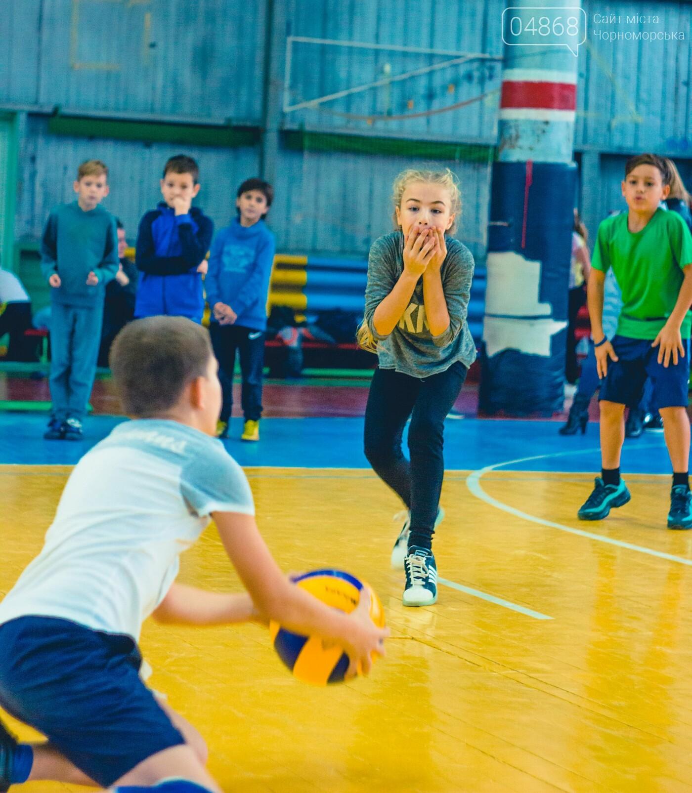 В Черноморске прошли школьные соревнования по мини-волейболу, фото-1