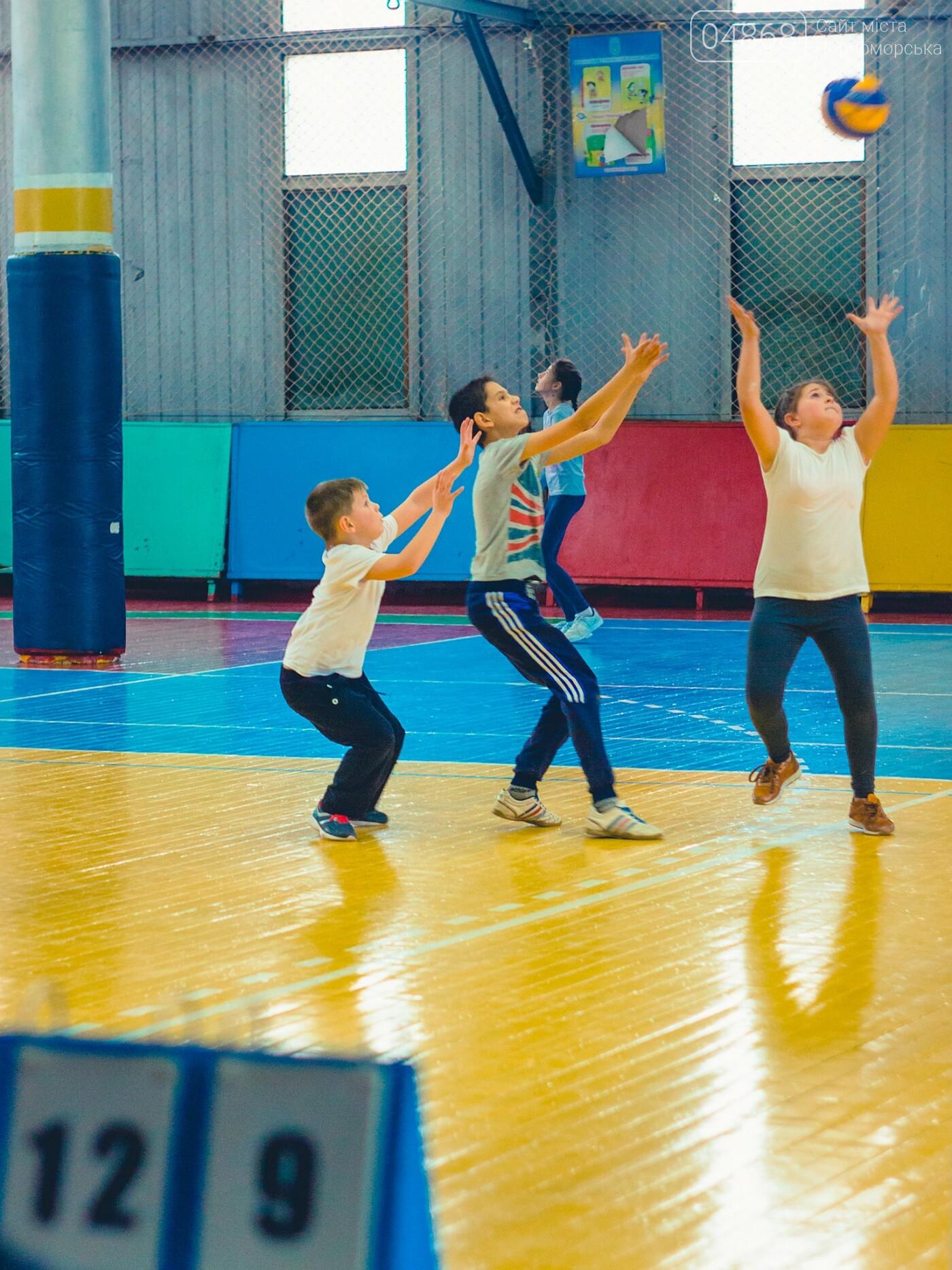 В Черноморске прошли школьные соревнования по мини-волейболу, фото-10
