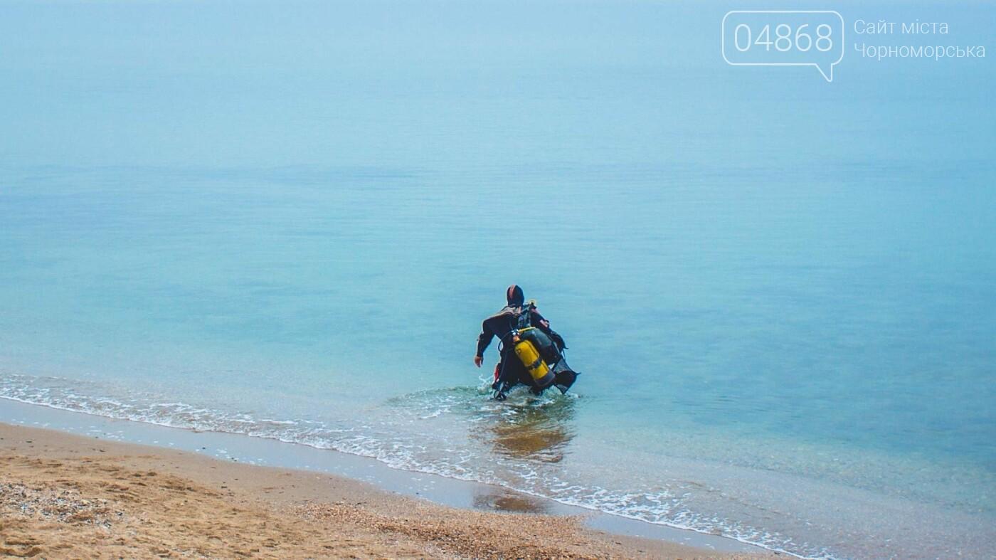 Пляж Черноморска первым в области прошёл обследование морского дна , фото-13