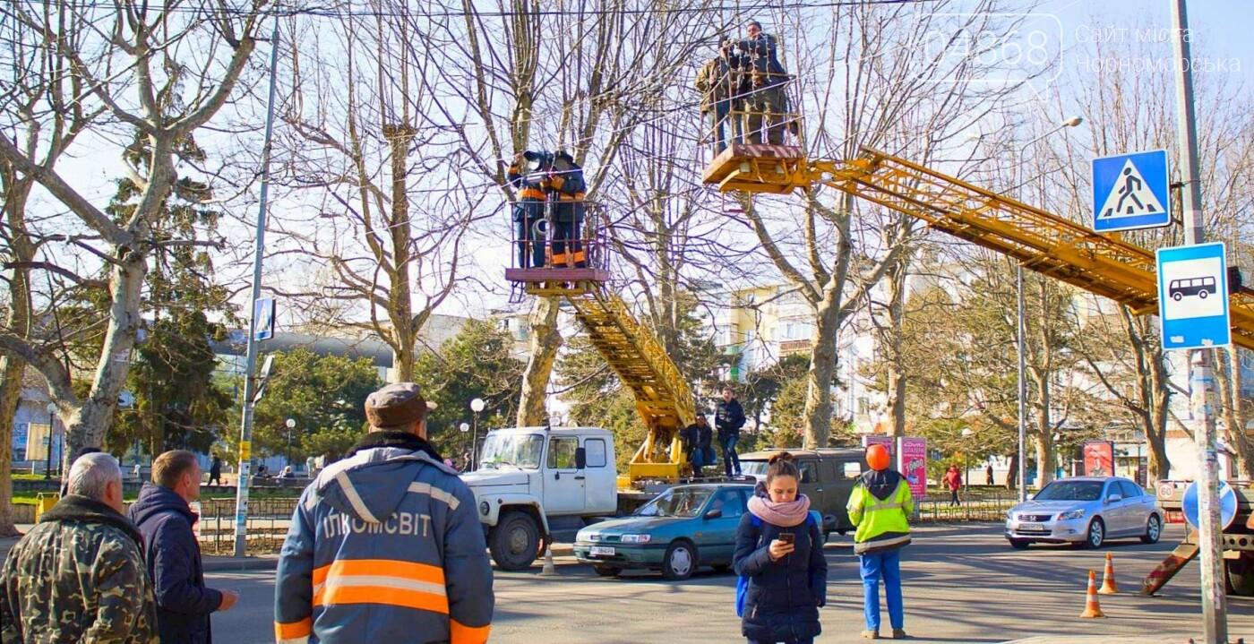 В Черноморске установили ещё 3 светодиодных подсветки пешеходных переходов, фото-8
