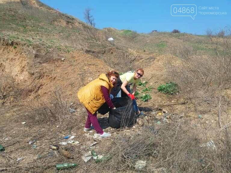 «Экотерапия моря и души»: ребята из черноморской школы № 1 провели акцию по очистке побережья от мусора, фото-5