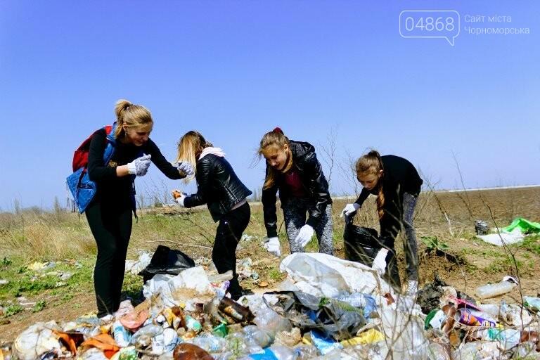 «Экотерапия моря и души»: ребята из черноморской школы № 1 провели акцию по очистке побережья от мусора, фото-4
