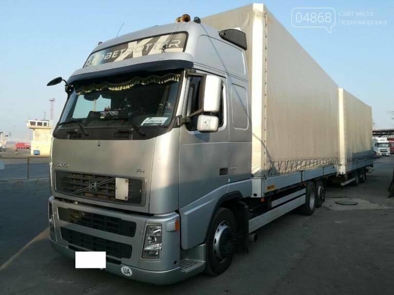 В порту «Черноморск» пограничники задержали угнанный в Литве грузовик, фото-1