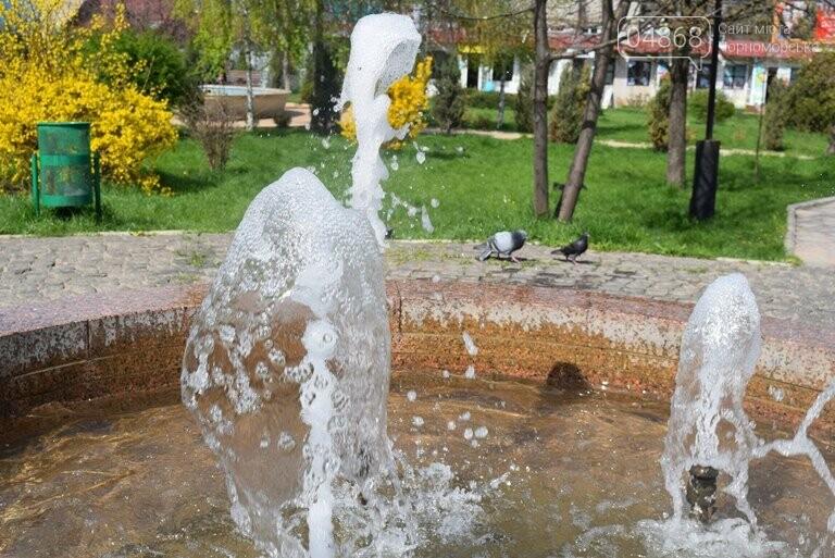 С наступлением весны в Черноморске снова заработают фонтаны, фото-4