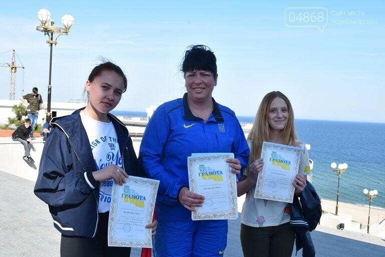 «А вы смогли бы?» В Черноморске провели легкоатлетический забег по Приморской лестнице, фото-9