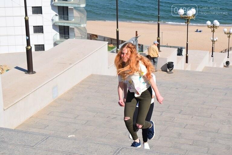 «А вы смогли бы?» В Черноморске провели легкоатлетический забег по Приморской лестнице, фото-1