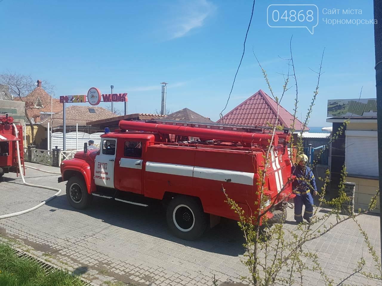 """В Черноморске горел ресторан """"Афалина"""", фото-7"""