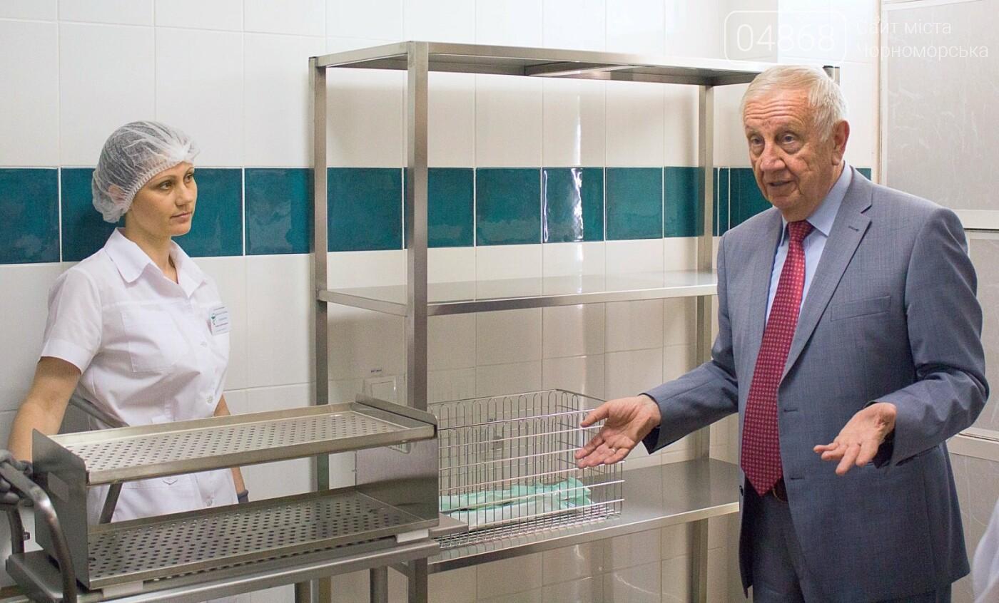 Мэр Черноморска поздравил медиков и посетил новое отделение больницы, фото-12