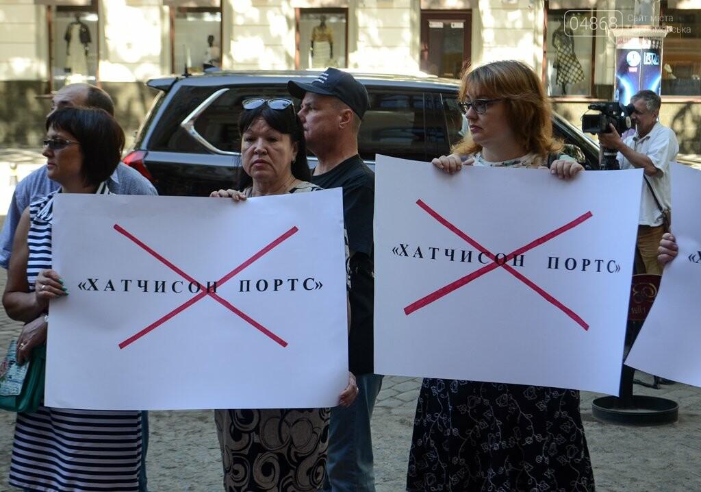 Черноморские портовики протестуют против Hutchison Ports, фото-3