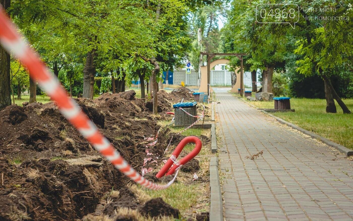 В черноморском парке Труда появится новое освещение, фото-6