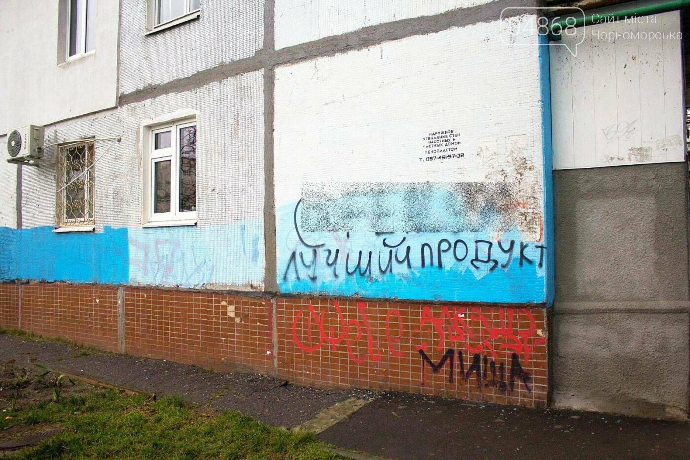 В Черноморске продолжается борьба с рекламой наркотических средств , фото-13