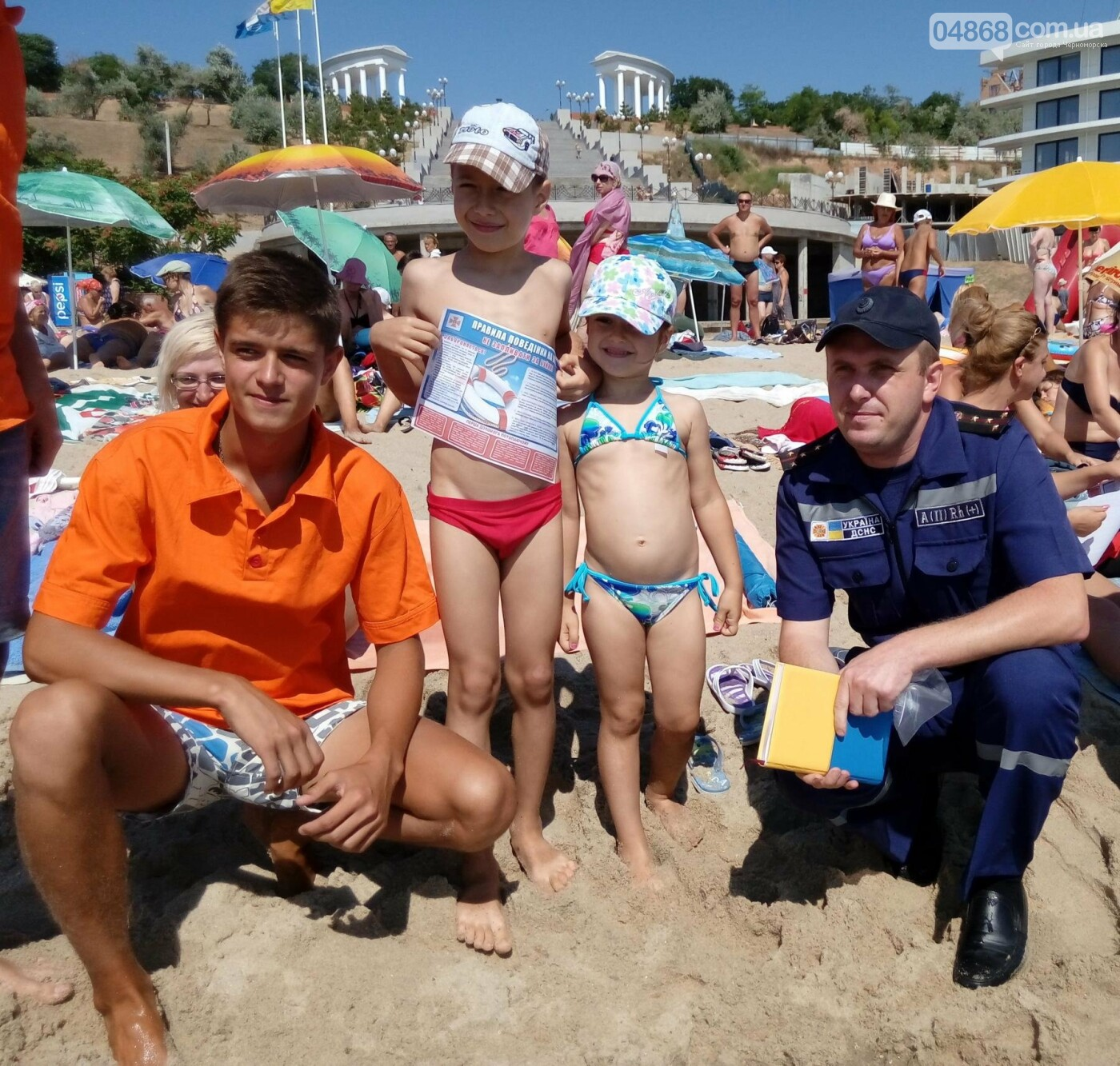 Черноморские спасатели провели профилактический рейд на городском пляже, фото-1