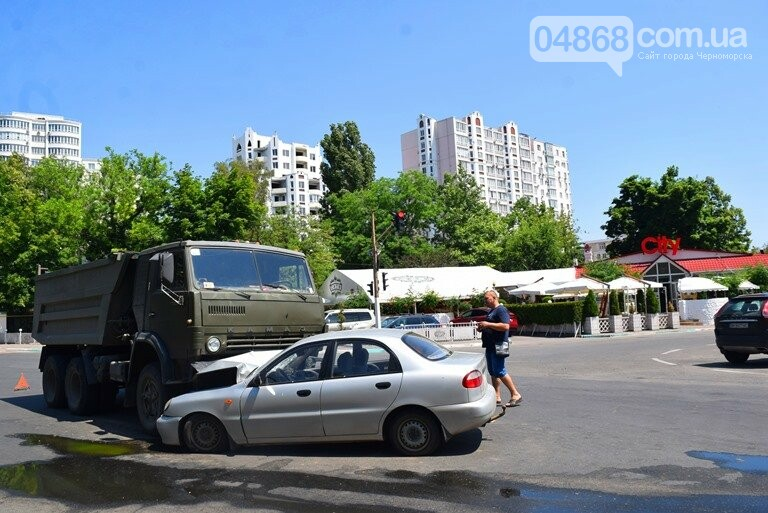 ДТП В Черноморске: Daewoo залетел под КамАЗ, фото-5