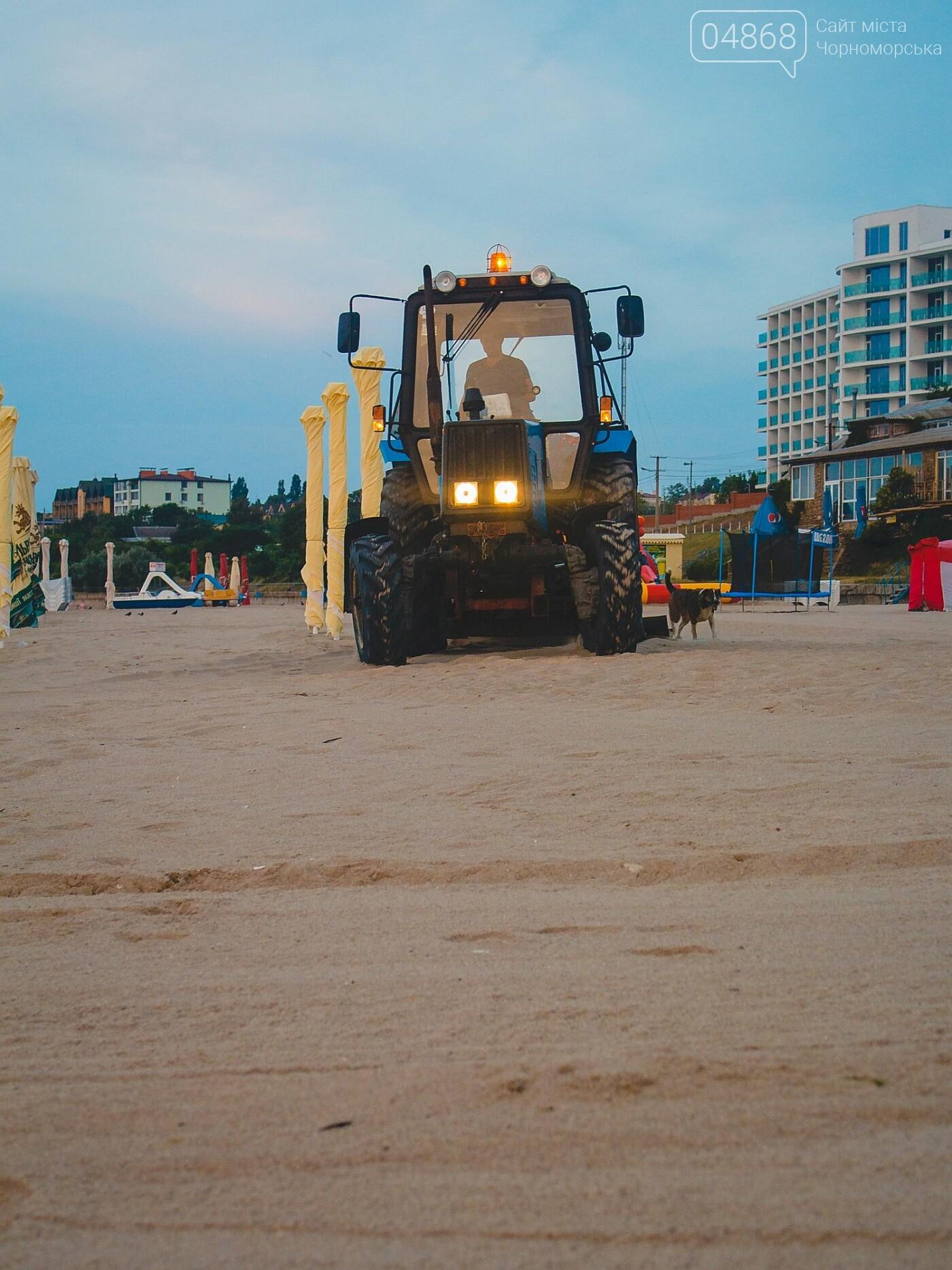 Песок на Центральном пляже Черноморска ежедневно чистят и просеивают, фото-8