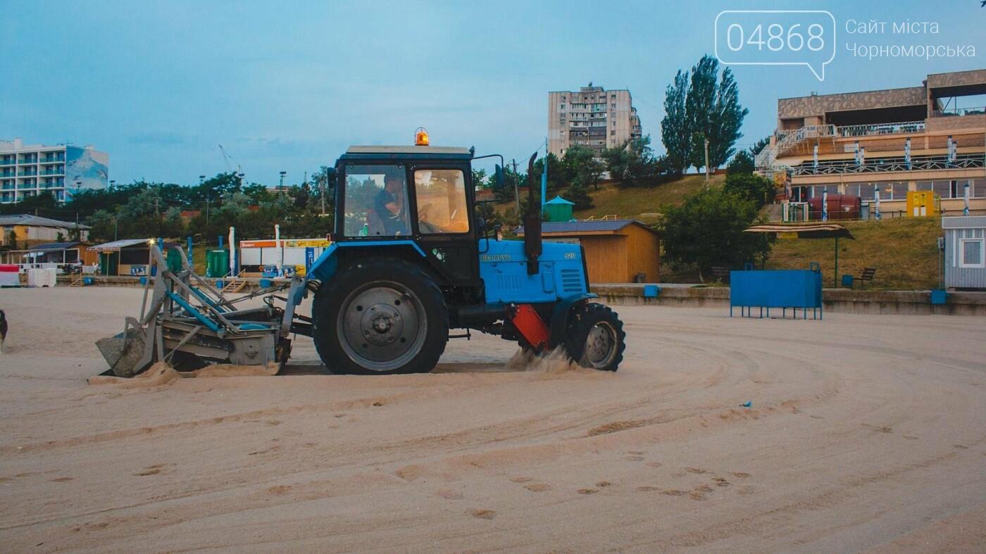 Песок на Центральном пляже Черноморска ежедневно чистят и просеивают, фото-6
