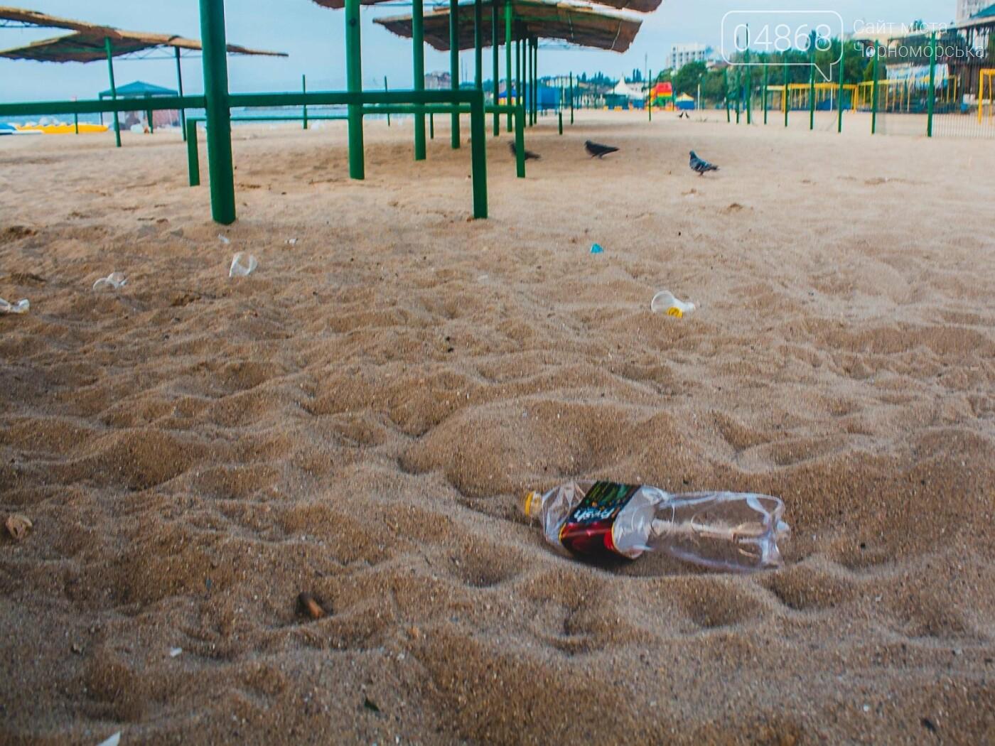 Песок на Центральном пляже Черноморска ежедневно чистят и просеивают, фото-10
