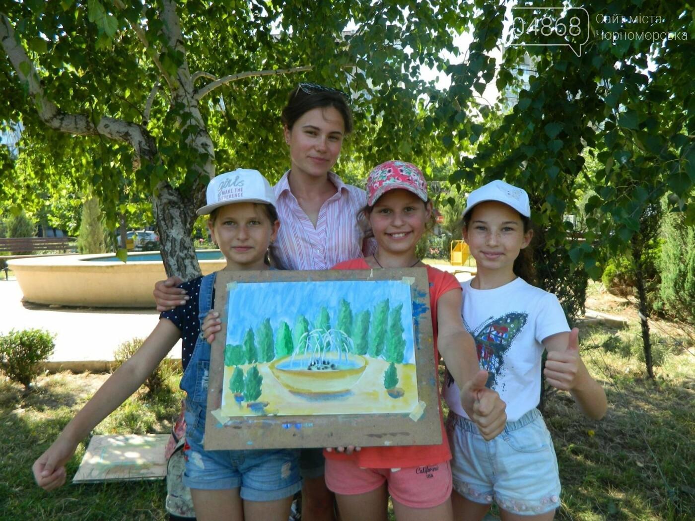 Маленькая «Кисточка» рисует Черноморск, фото-3