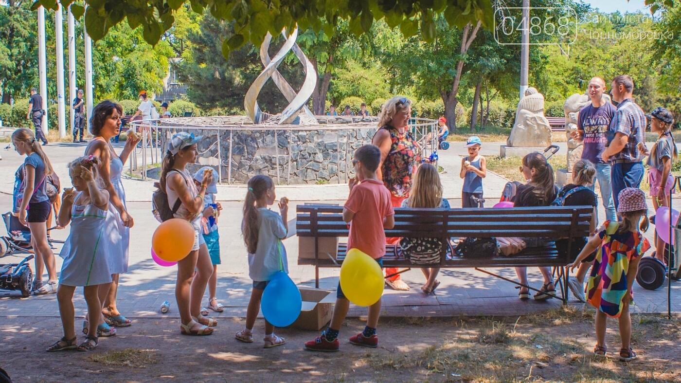 Летний праздник с мороженым и воздушными шарами на гироборде, фото-9