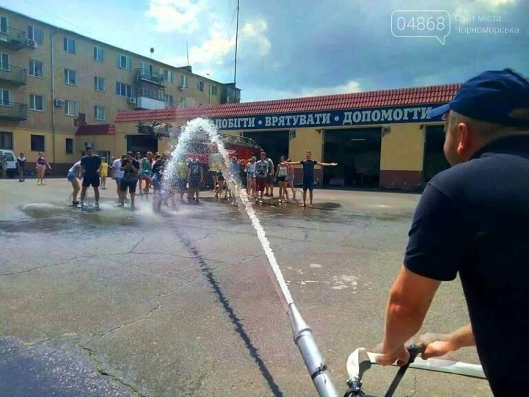 Школа лидеров в гостях у пожарно-спасательной службы Черноморска, фото-3