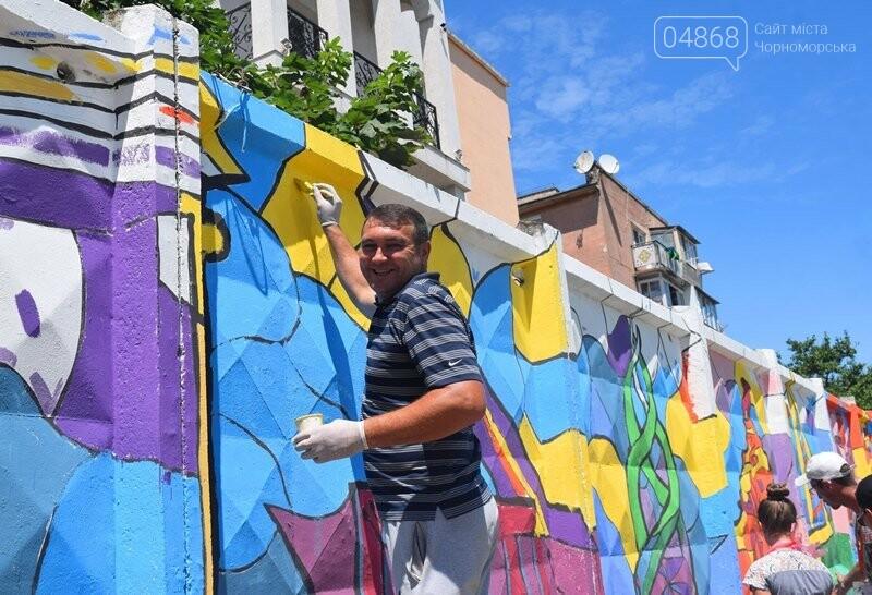 Драйв творчества: «Art weekend» подарил Черноморску новый мурал, а участникам проекта – отличное настроение, фото-20