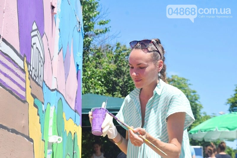 Драйв творчества: «Art weekend» подарил Черноморску новый мурал, а участникам проекта – отличное настроение, фото-28