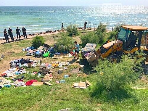 Ликвидация палаточного городка на побережье Черноморска. Возвращение «дикарей». , фото-1