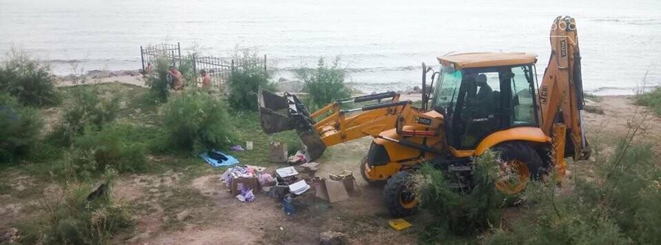 Ликвидация палаточного городка на побережье Черноморска. Возвращение «дикарей». , фото-6